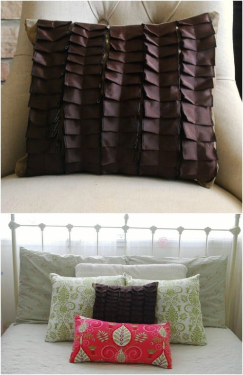 Easy DIY Pleated Accent Pillow