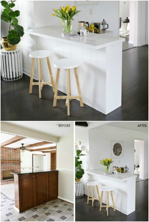 DIY Tiled Countertop