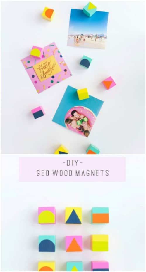 Easy Geo Wood Magnets