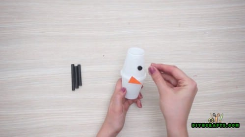 Cup Snowman - 5 Creative Snowman Crafts You Can DO In Under Three Minutes