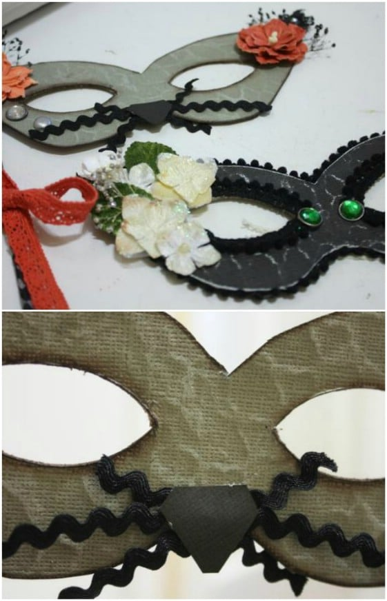 White Flower DIY Halloween Mask