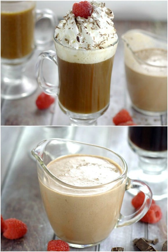 Homemade Chocolate Raspberry Creamer
