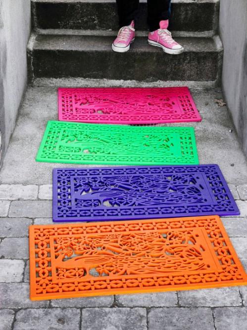 Easy DIY Color Splash Welcome Mat