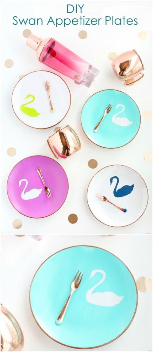 DIY Swan Appetizer Plates