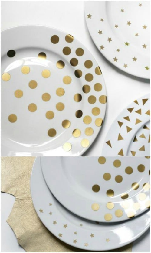 DIY Gold Star Plates