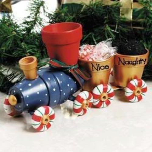 Adorable DIY Clay Pot Choo Choo