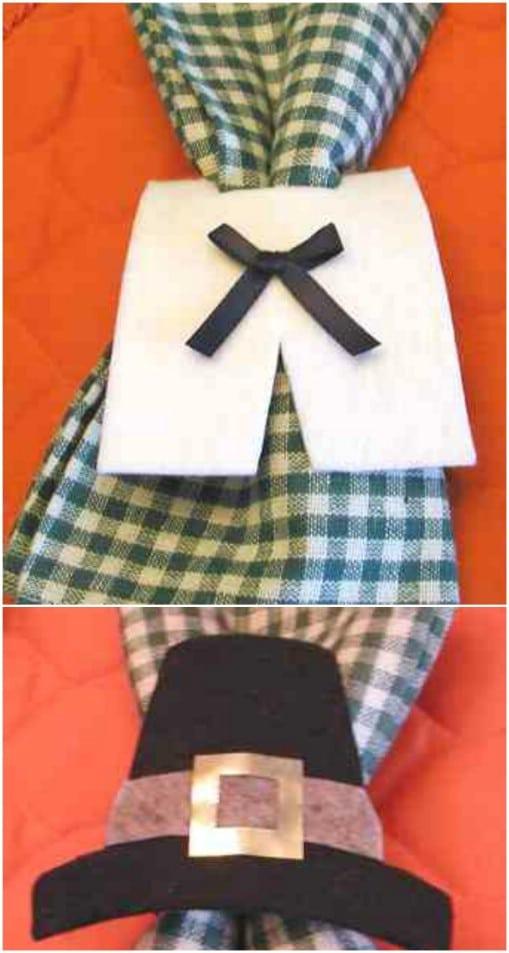 Cute Pilgrim Hat Napkin Rings