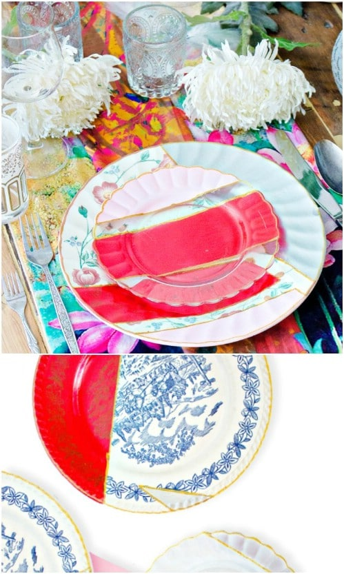 Simple DIY Painted Plates