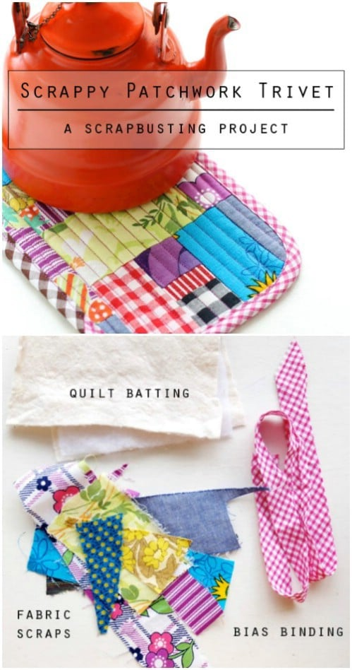 Easy Hand Sewn Patchwork Trivet