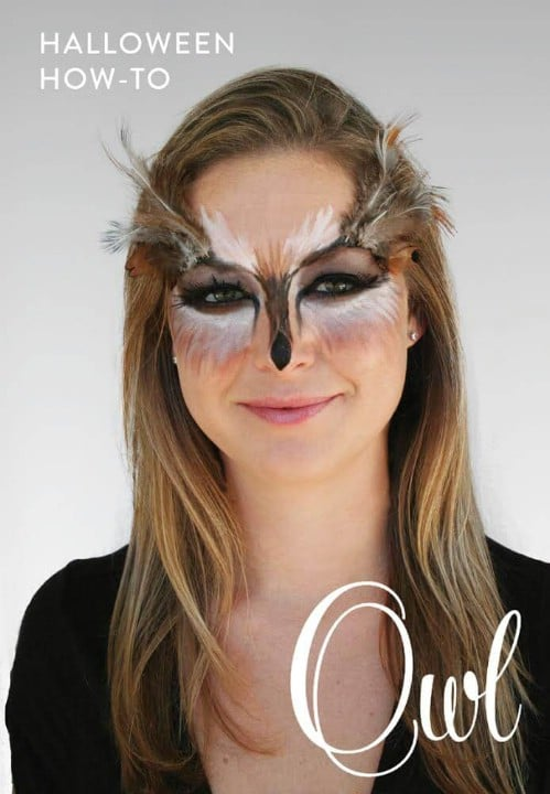 Easy DIY Owl Makeup
