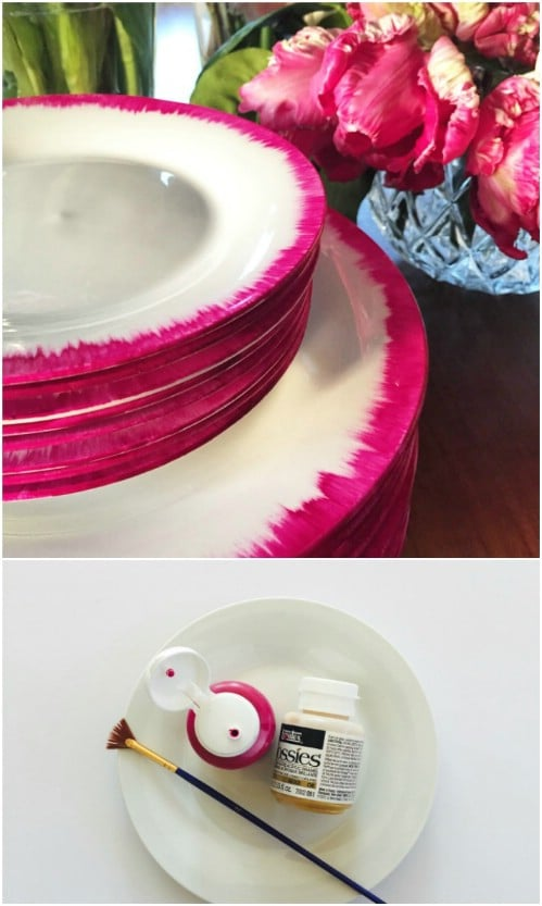 DIY Ikat Inspired Plates