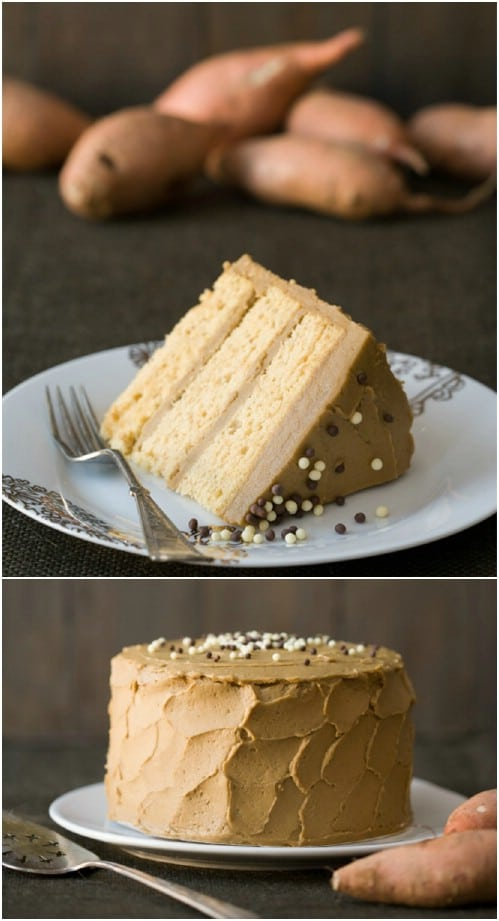 Sweet Potato Layer Cake With Molasses Buttercream
