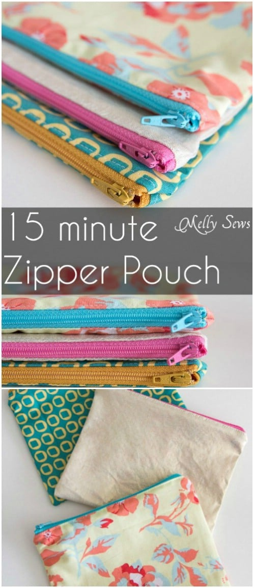 Easy Handmade Zippered Pouch