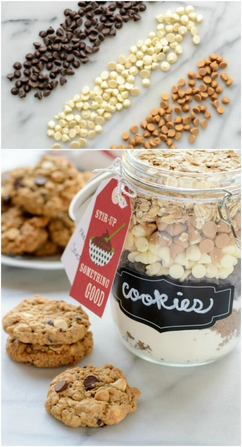 Triple Chip Oatmeal Cookie In A Jar Mix
