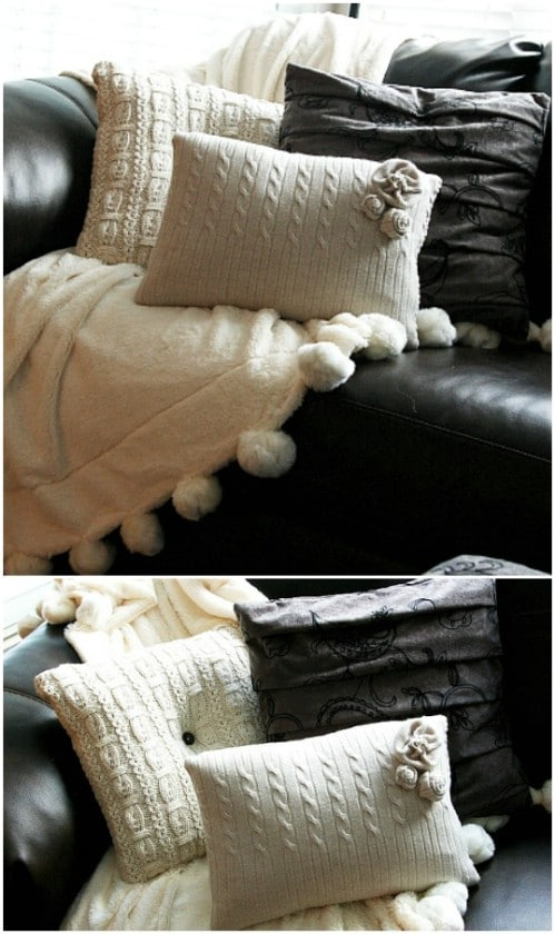 Upcycled Sweater Pillow