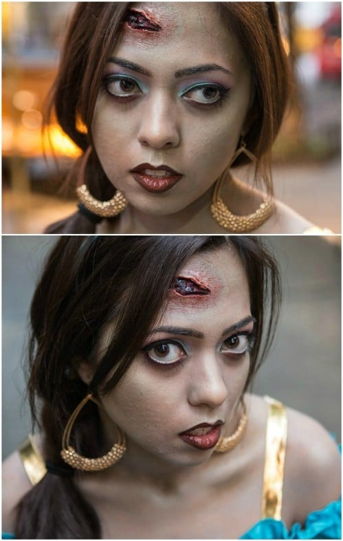 Princess Jasmine Zombie Makeup
