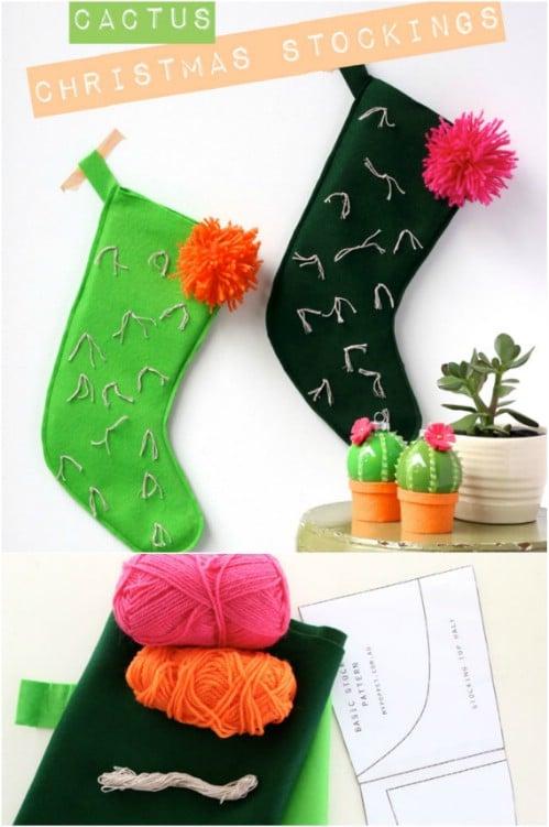 Adorable DIY Cactus Stocking