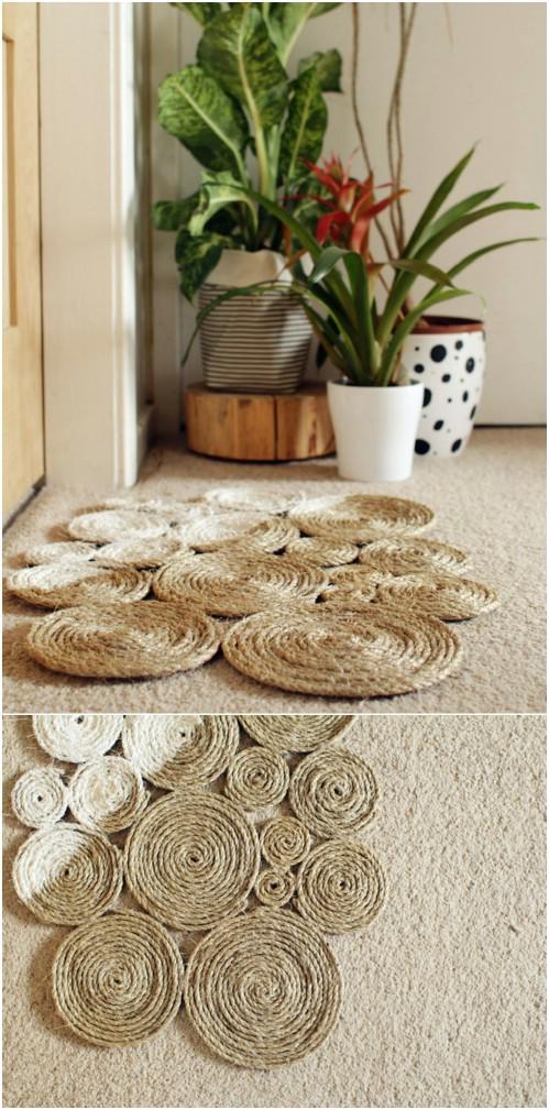 DIY Coiled Rope Door Mat