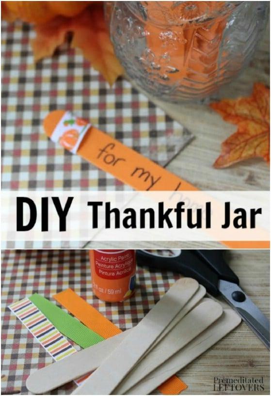 DIY Thankful Jar