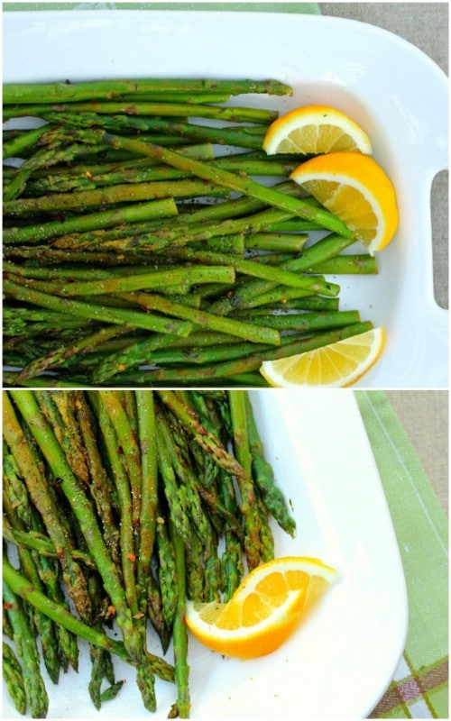 Asparagus With Lemon Mint And Red Peppers
