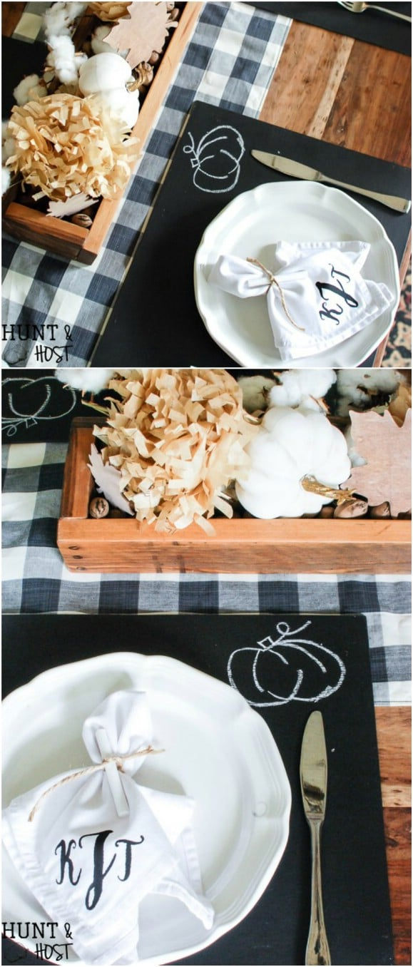DIY Chalkboard Placemats