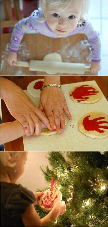 DIY Dough Handprint Ornament