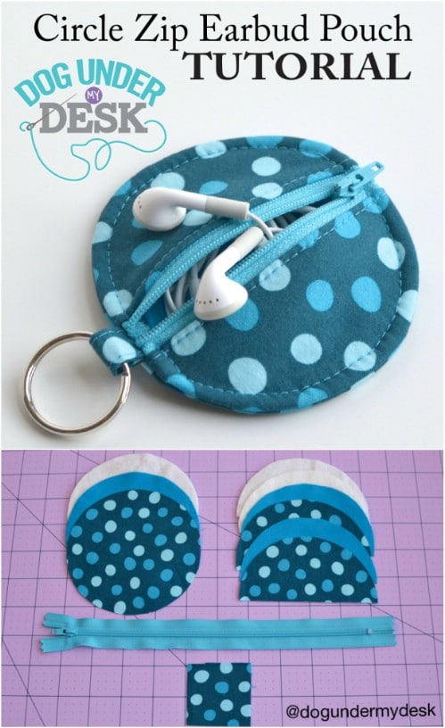 Easy DIY Earbud Pouch