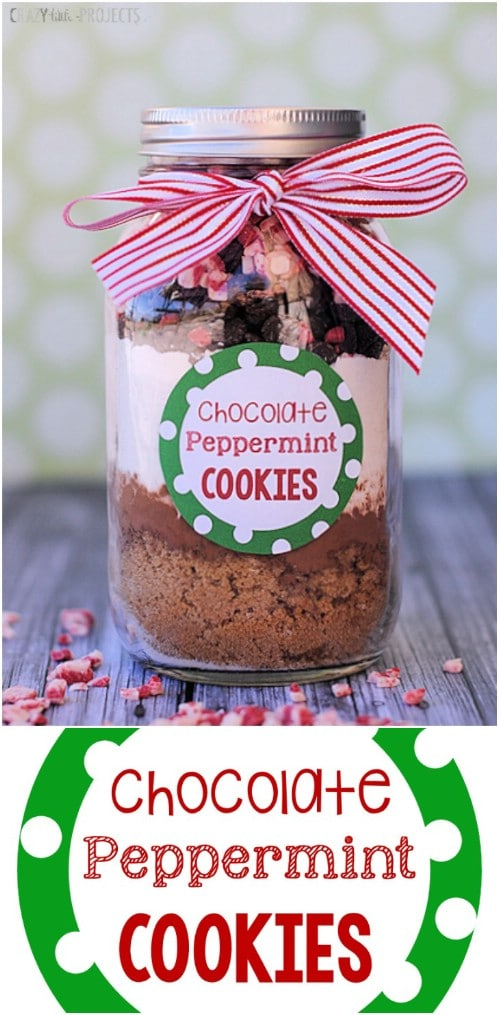 Chocolate Peppermint Cookies In A Jar