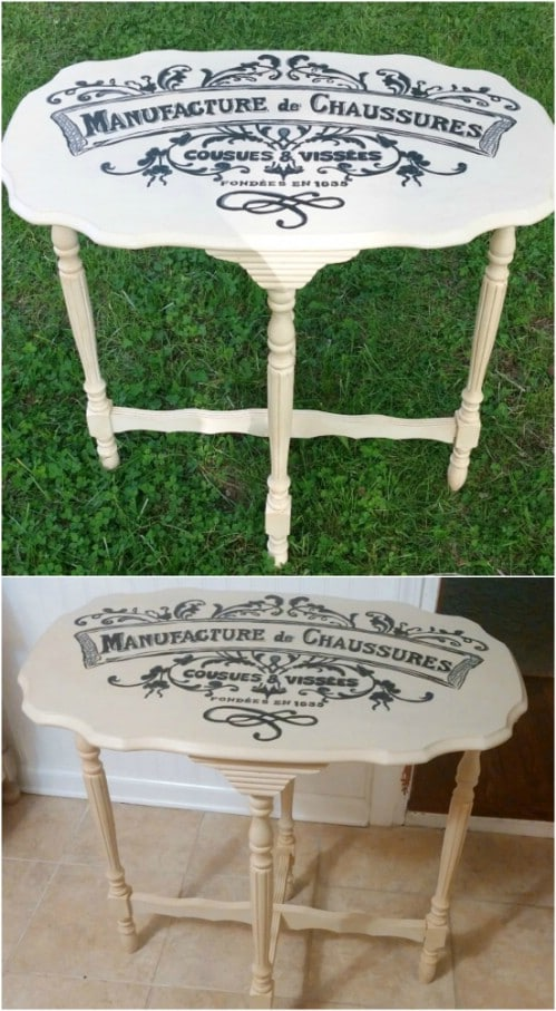 Easy DIY French Accent Table
