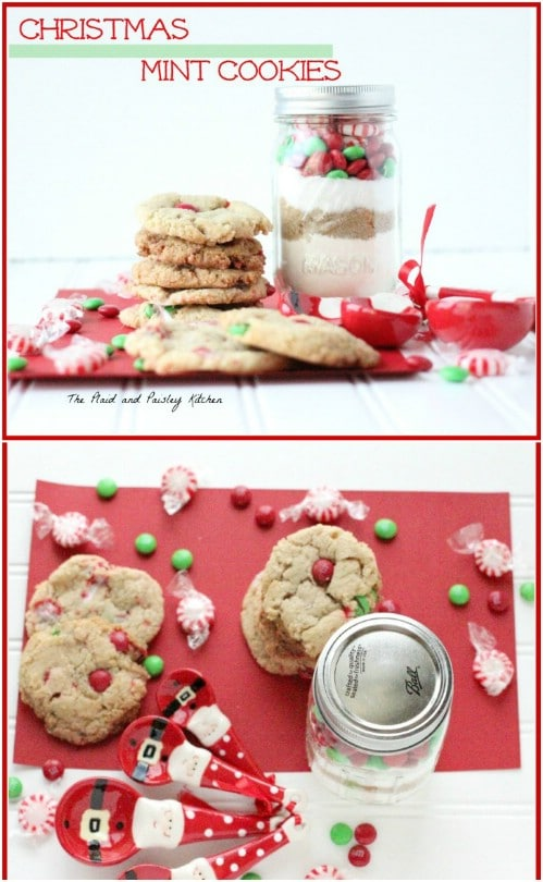 Delicious Christmas Mint Cookies In A Jar