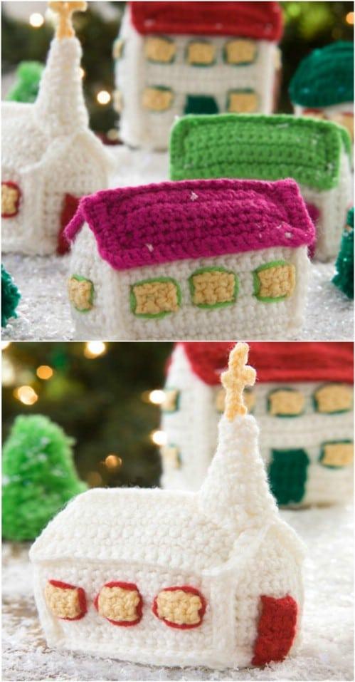 Crochet Christmas Village Ornaments