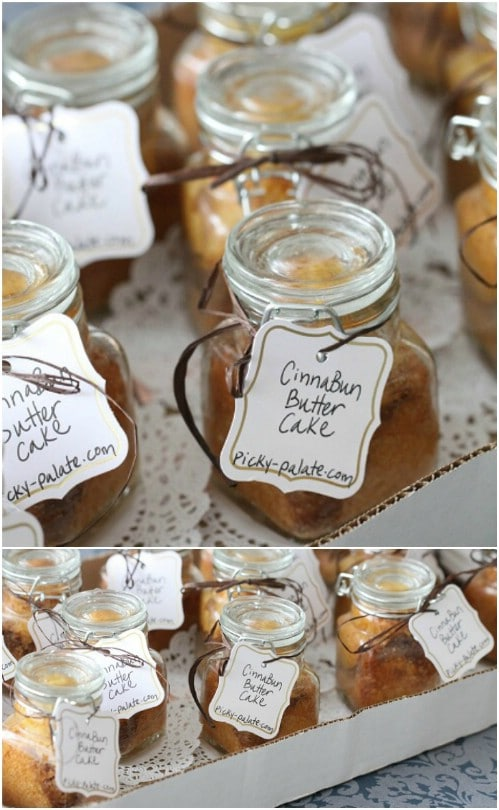 Cinna-Bun Butter Cake In A Jar
