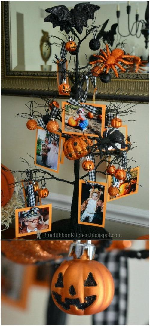 Family Photo Halloween Tree