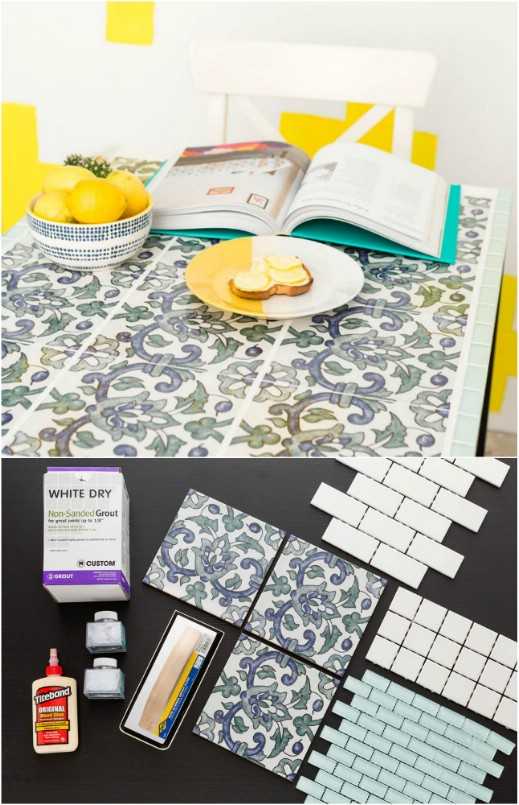 Easy Tiled Kitchen Table