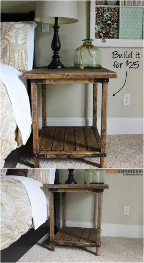 DIY Rustic Square Table