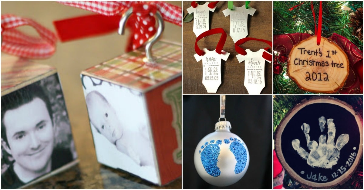 10 memorable diy babys first christmas ornaments