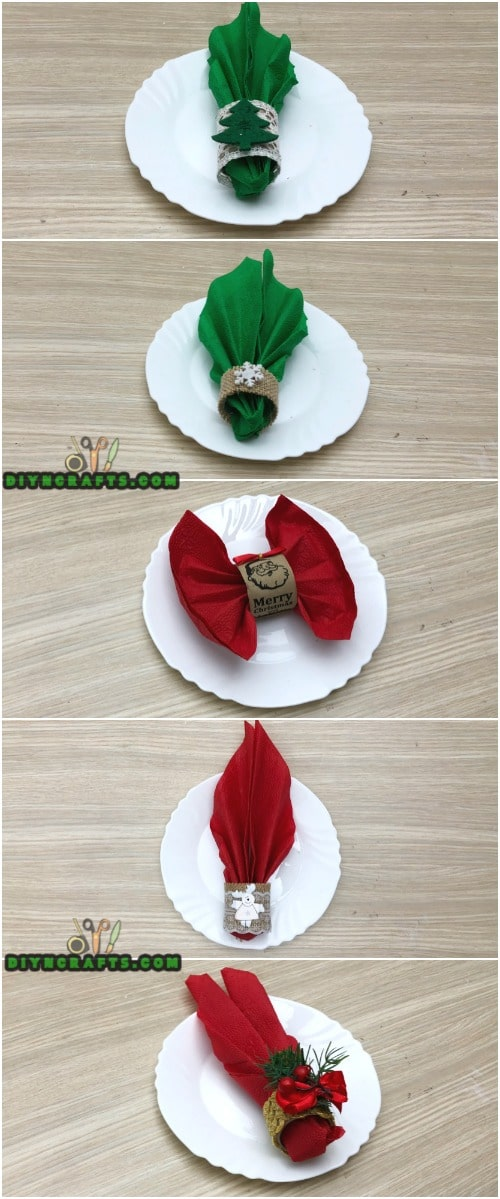 How to Make 5 Festive Holiday Napkin Rings In Under 2 Minutes