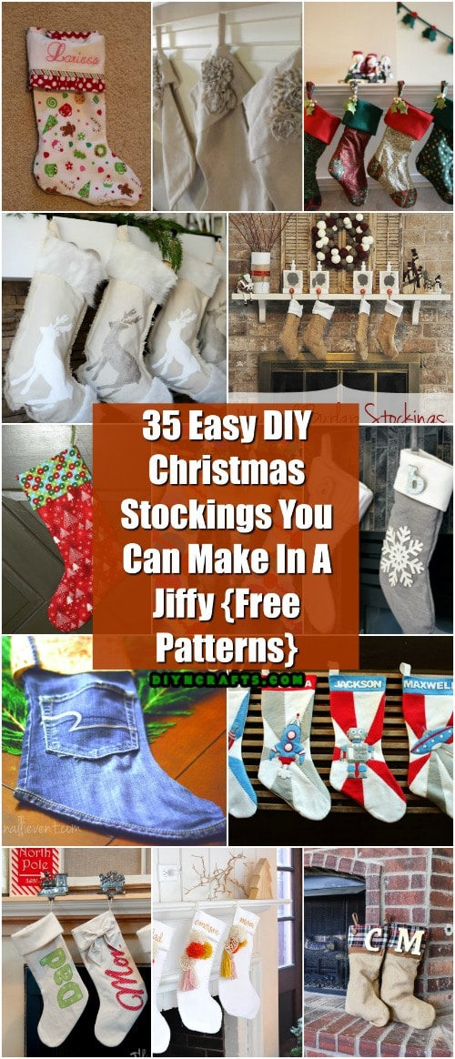 35 easy diy christmas stockings you can make in a jiffy free
