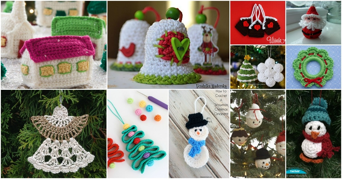 30 easy crochet christmas ornaments to decorate your tree