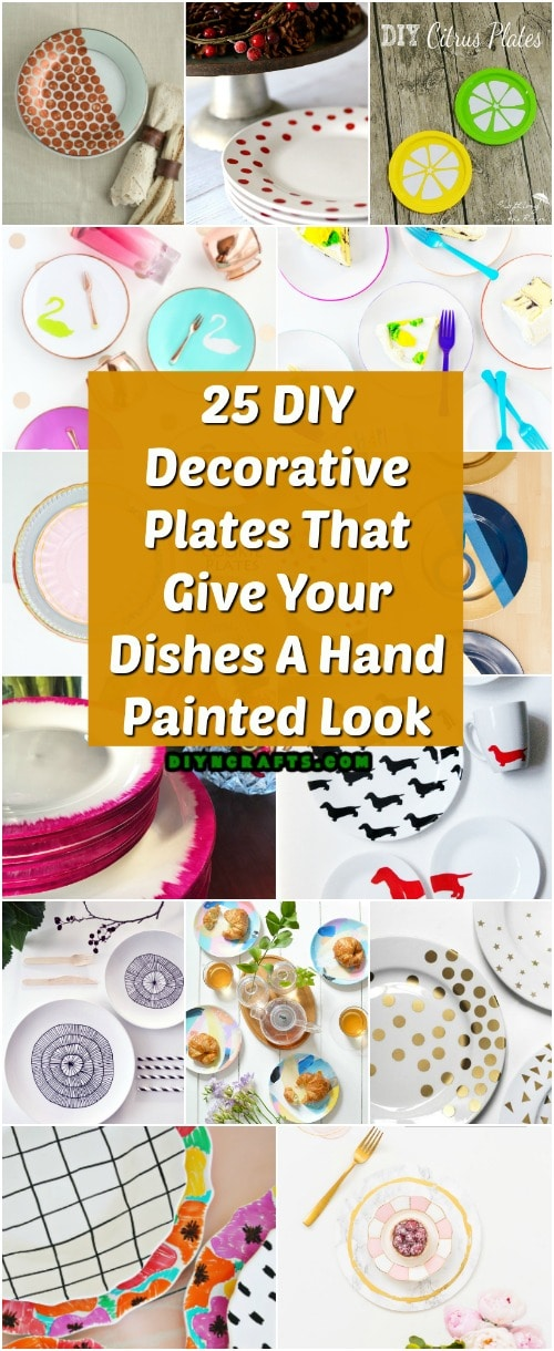 25 DIY Decorative Plates That Give Your Dishes A Hand Painted Look
