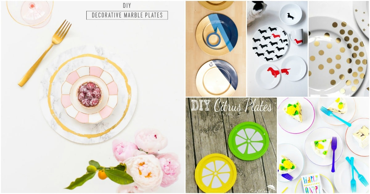 25 DIY Decorative Plates That Give Your Dishes A Hand Painted Look - DIY u0026 Crafts  sc 1 st  DIY u0026 Crafts & 25 DIY Decorative Plates That Give Your Dishes A Hand Painted Look ...