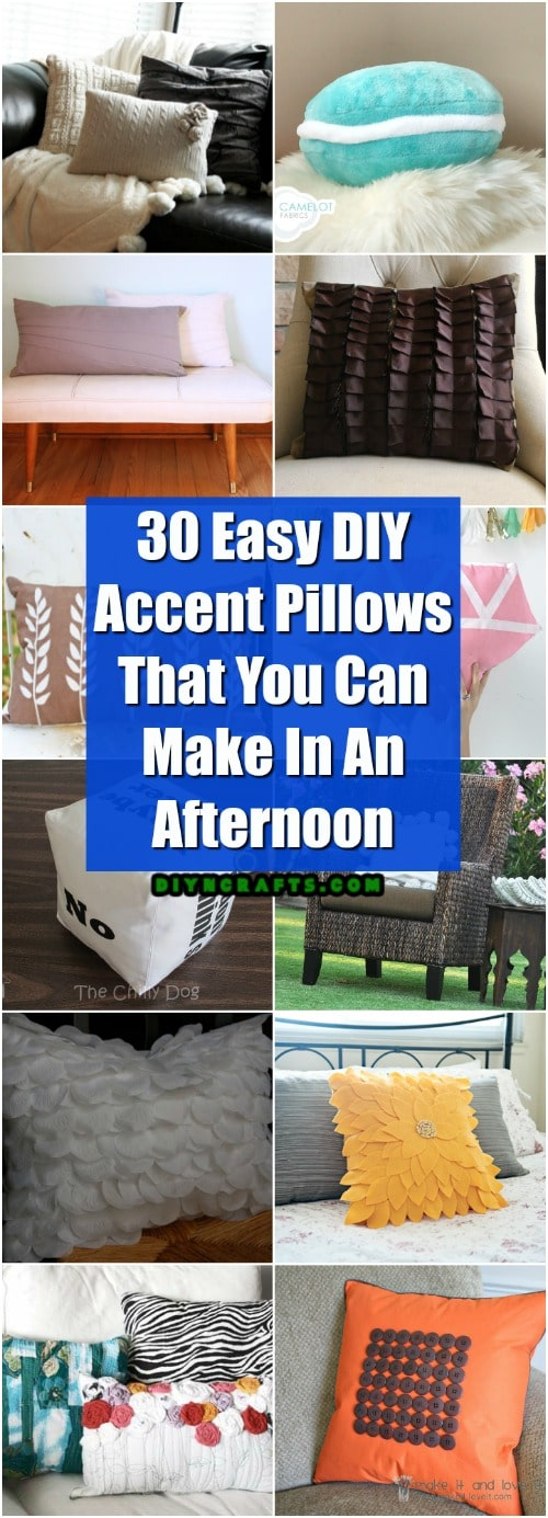 30 easy diy accent pillows that you can make in an afternoon - diy Making Accent Pillows