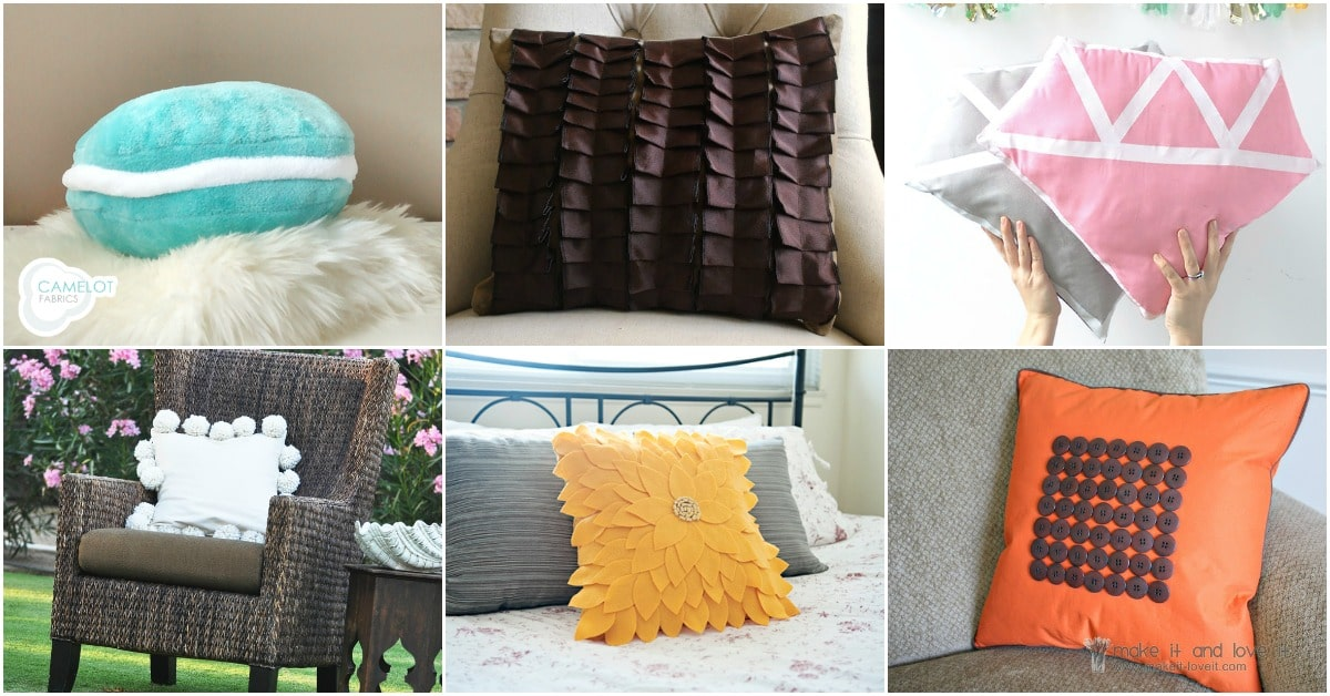 30 Easy DIY Accent Pillows That You Can Make In An ...