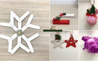 5 DIY Christmas Tree Ornaments You Can Easily DIY {Video Tutorials}