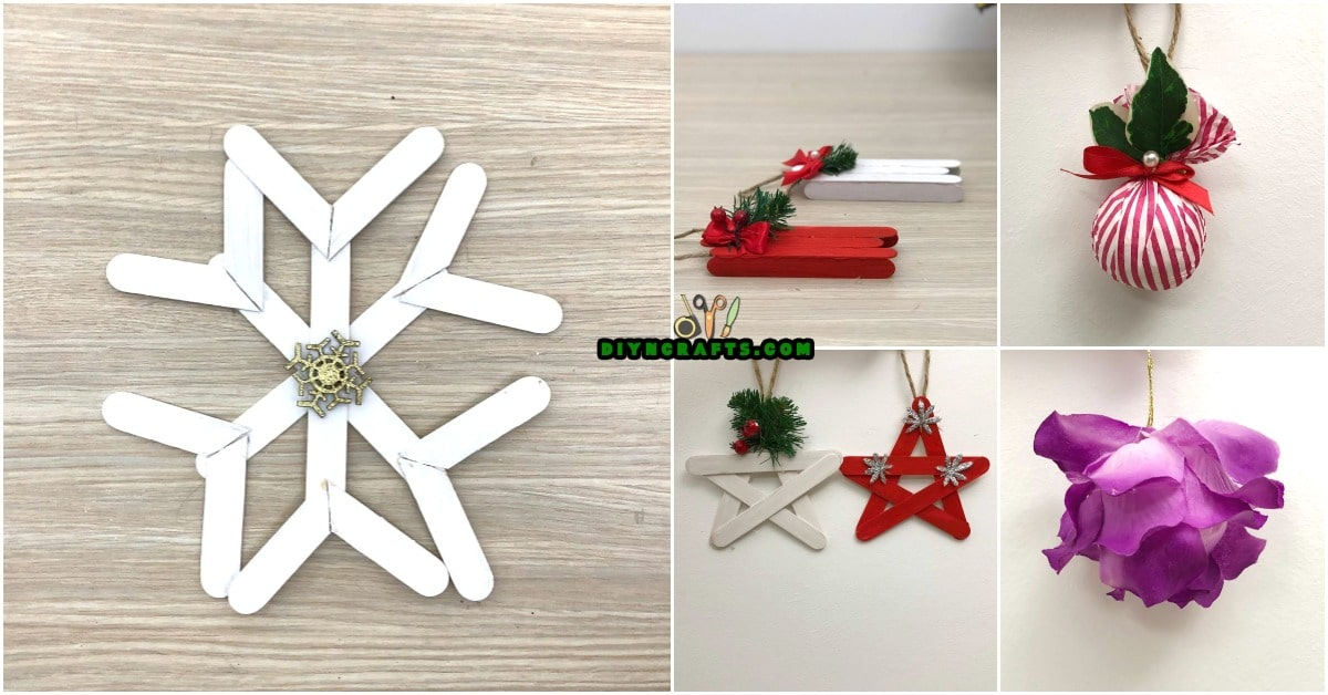 5 diy christmas tree ornaments you can easily diy video tutorials - Diy Christmas Decorations 2017