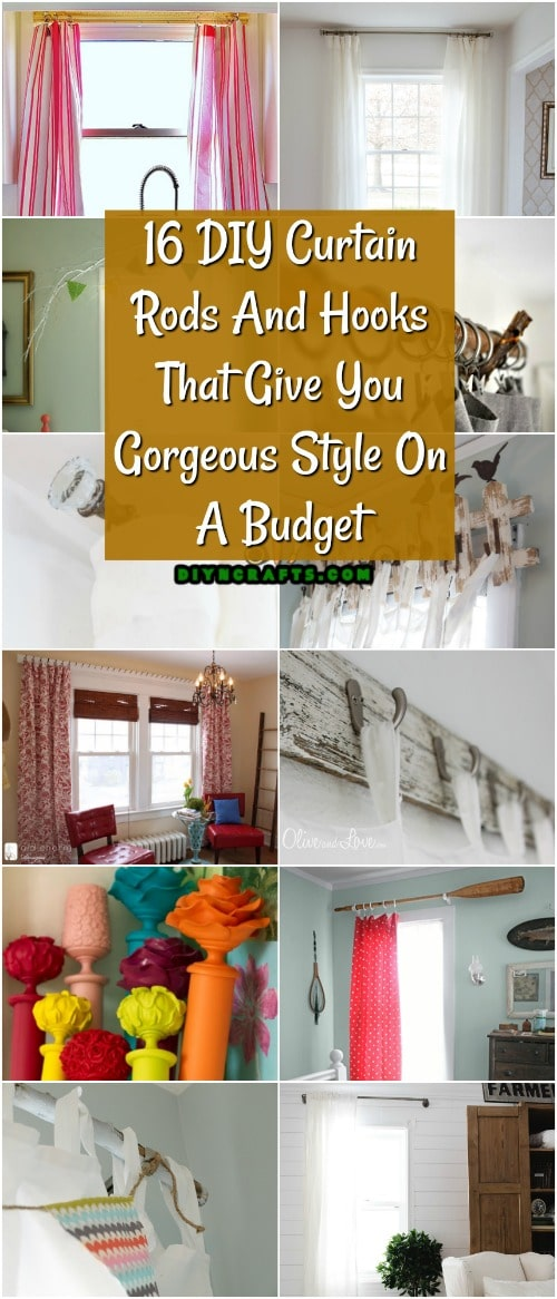 16 DIY Curtain Rods And Hooks That Give You Gorgeous Style On A Budget