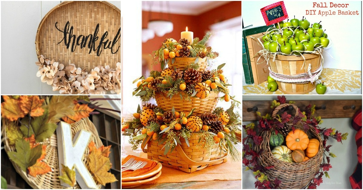 I personally think decorating with baskets for Thanksgiving is a wonderful idea. From cornucopias to basket wreaths there are just so many ways that you ... & 15 Fun And Creative Ways To Decorate With Baskets This Thanksgiving ...