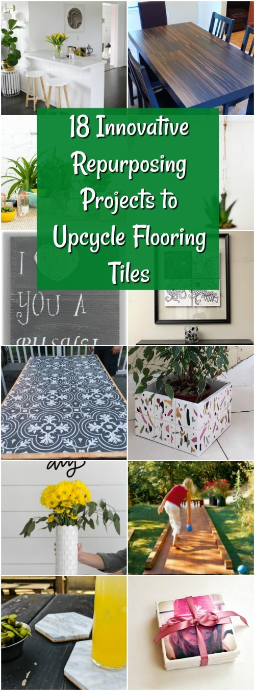 18 Innovative Repurposing Projects to Upcycle Flooring Tiles