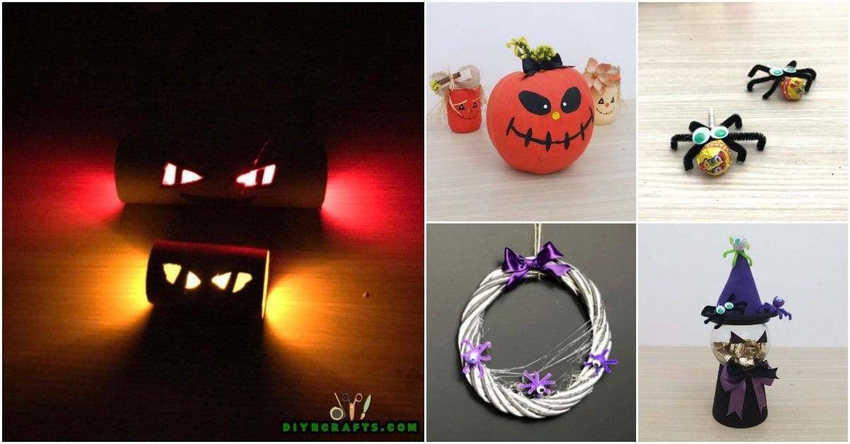 How to make 5 spooky diy halloween crafts in under 5 for How to make homemade halloween crafts