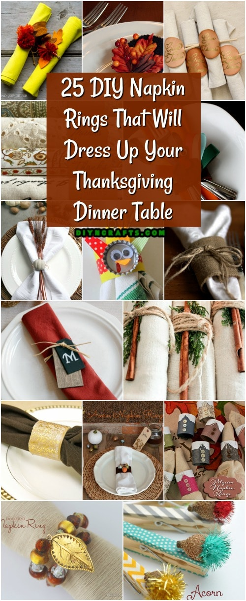 25 DIY Napkin Rings That Will Dress Up Your Thanksgiving Dinner Table